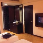 Spacious room equiped with mini bar and hot water maker