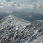 View along the summit ridge, Blencathra.