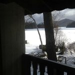 even ice and snow can't stop you from enjoying Lake Placid. picture from our room!