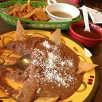  Refried Beans and Tortilla Chips...homemade and delicious!