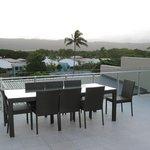  Outdoor dining table on roof-top balcony