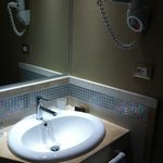  Basin and hairdryer in standard apartment