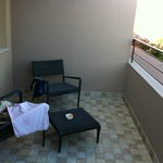 Balcony furniture - no where to hang anything!