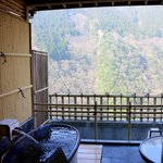  Our hotel room with a private onsen