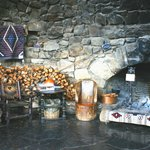 The big fireplace inside Hermit's Rest