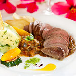Pink lamb loin-the only way to enjoy it