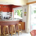  panoramic view inside - reception and bar