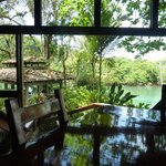  Dining room looking out over the lagoon