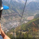  View from the top onto the town of Telluride
