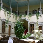  Lobby and balcony; rooms are all on second floor