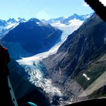 Fox Glacier from the helicopter
