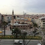 view from hotel room to Fatih Mosque
