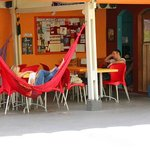 Hammocks to rest after walk around Vila Madalena