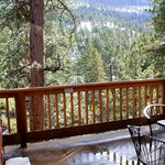  view out to the deck and hot tub