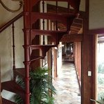  spiral stairs to go to upstairs room