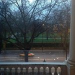  view of hyde park from room 101, shame you are not allowed out onto the balcony however