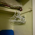  Closet with coat hangers