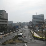 View from the overpass from Keisei-Narita station and the hotel