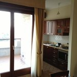 kitchenette and balcony