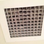 The air vent in the shower