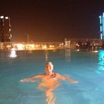 night-time swimming