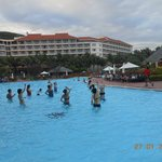 Aqua Aerobics at the mega huge pool