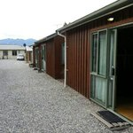  The self contained cabins behind the main YHA building.