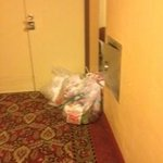 The trash in the hall by the elevator. Was there the entire time we were at the hotel.