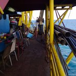 Part of the main deck of rig