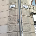  When coming from Bologna central station - the entrance is to the right of the XX septembre sign