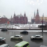  view from dining room, red square and kremlin