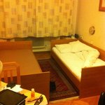 Room: simple but comfortable; bed a little short for me (tall)
