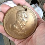 Actual 1829 Medal awarded by Andrew Jackson to the owner's grandfather