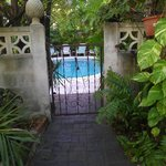  The private entrance to the pool and the breakfast area