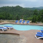  The swimming pool with Gatlinburg Mountain views.