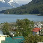  View from captains Choice motel in Haines ak.