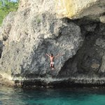 Cliff Divers on Catamaran Trip