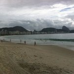  vista da praia em frente