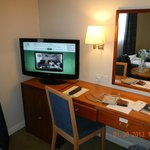  view of the room desk/tv