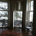  the beautiful bay window in front room overlooking the Charleston Bay