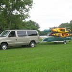  Red Cedar Lodge shuttle for canoes and kayaks