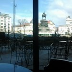 View from one of the Zig Zag Brasserie's tables during lunch