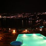  View from our balcony to Mykonos