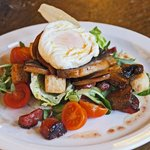 warm salad with poached egg