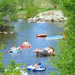 Tubing theYampa River - photo credit to Shannon Lukens
