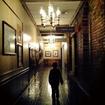 Pic I took of my son walking down the hall following the sound of music. :-)