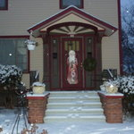 Front Door in Winter Wonderland