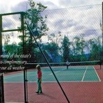  The on site tennis court is one of many free activities available to guest on the estate