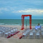  Looking out from the Cay Pointe Villa Deck to the ocean at our ceremony site on 1/15/11