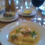 Gorgeous home-made crab ravioli